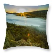 Lake Of The Clouds Sunrise Throw Pillow
