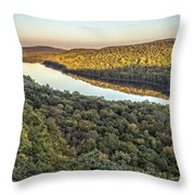 Lake Of The Clouds Sunset Throw Pillow