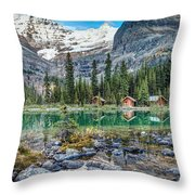 Lake O'hara At Dusk Throw Pillow