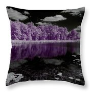 Lake On Another Planet Throw Pillow