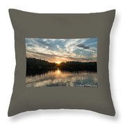 Lake Onaping Sunset Reflections Throw Pillow