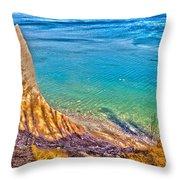 Lake Ontario At Chimney Bluff Throw Pillow
