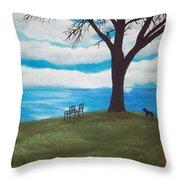 Lake Ontario Canada Throw Pillow