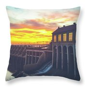 Lake overholser dam in oklahoma city photograph by jose solis lake overholser dam in oklahoma city throw pillow sciox Image collections