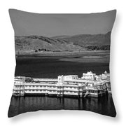 Lake Palace Hotel Throw Pillow