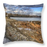 Lake Pend D'oreille At Humbird Ruins 2 Throw Pillow
