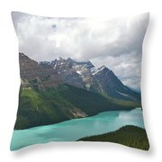 Lake Peyto - Banff National Park Throw Pillow
