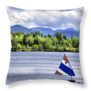 Lake Placid Throw Pillow