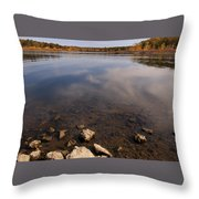 Lake Pomme De Terre In October Throw Pillow