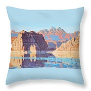Lake Powell From Shore  Throw Pillow