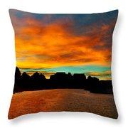 Lake Powell Sunrise Throw Pillow