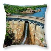 Lake Quanah Parker - Ccc 1935 - Wichita Mountains - Oklahoma Throw Pillow