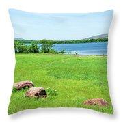 Lake Quanah Parker -  Wichita Mountains - Oklahoma Throw Pillow