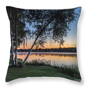 Lake Quannapowitt At Sunset Throw Pillow