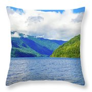 Lake Quinault Washington Throw Pillow