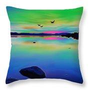 Lake Reflections 2 Throw Pillow
