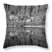 Lake Reflections In Black And White Throw Pillow