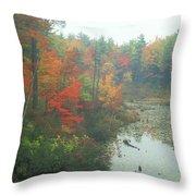 Lake Rohunta Foliage Throw Pillow