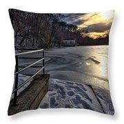 Lake Roland Sunset Throw Pillow