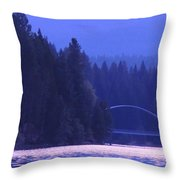 Lake Shasta Bridge Throw Pillow