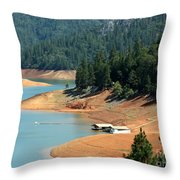 Lake Shasta Throw Pillow