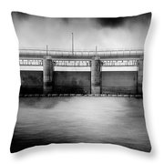 Lake Shelbyville Dam Throw Pillow