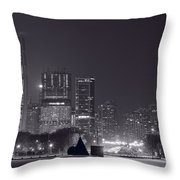 Lake Shore Drive Chicago B And W Throw Pillow