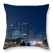 Lake Shore Drive Chicago Throw Pillow