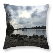 Lake Side Throw Pillow