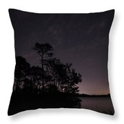 Lake Silhouette Throw Pillow