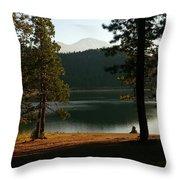 Lake Siskiyou  Throw Pillow