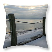 Lake Snow Throw Pillow