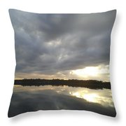 Lake Sunset Throw Pillow