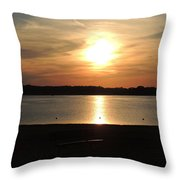 Lake Sunset-midrange Throw Pillow