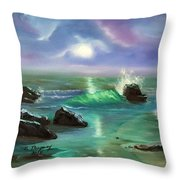 Lake Superior Evening Throw Pillow by Sharon Duguay