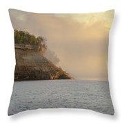 Lake Superior Fogbank Throw Pillow