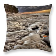 Lake Superior Northern Michigan  Throw Pillow