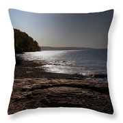 Lake Superior Shore Throw Pillow