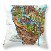 Lake Superior Watershed In Early Spring Throw Pillow