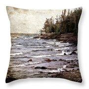 Lake Superior Waves Throw Pillow