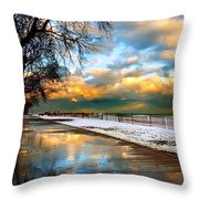 Lake Sure Throw Pillow