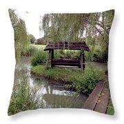 Lake Swing And Bridge Throw Pillow