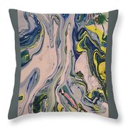 Lake Swirl 3 Throw Pillow
