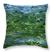 Lake Tahoe Abstract Throw Pillow