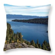 Lake Tahoe Emerald Bay Panorama Throw Pillow