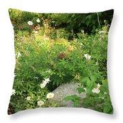 Lake Tahoe Flower Garden Throw Pillow