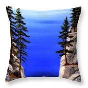 Lake Tahoe Framed Throw Pillow