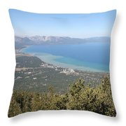 Lake Tahoe From The Mountain Throw Pillow