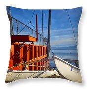 Lake Tahoe Low Water Throw Pillow