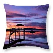 Lake Tahoe Rising Throw Pillow